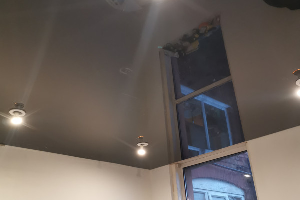 3D Stretch Ceilings - Black ceiling